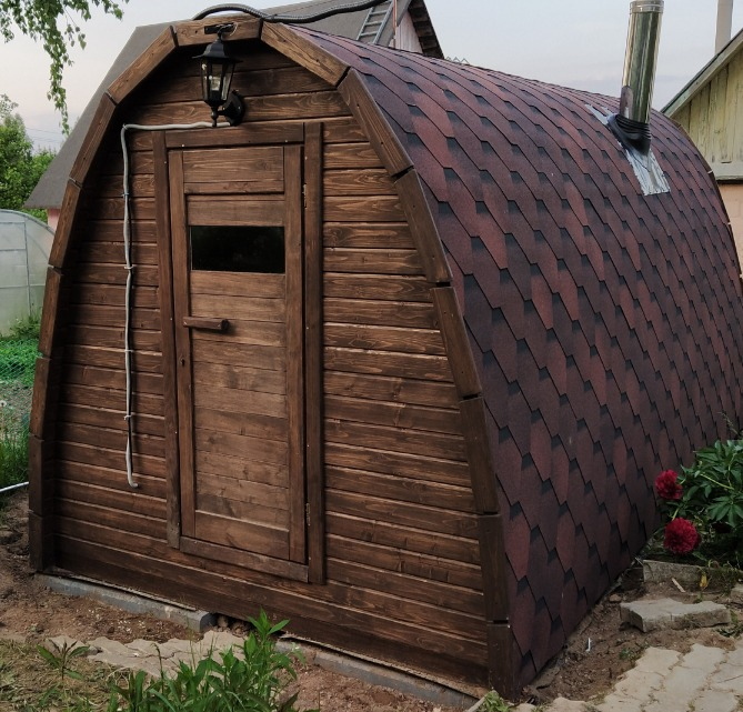 Арочная баня 5.0м (3 помещения)